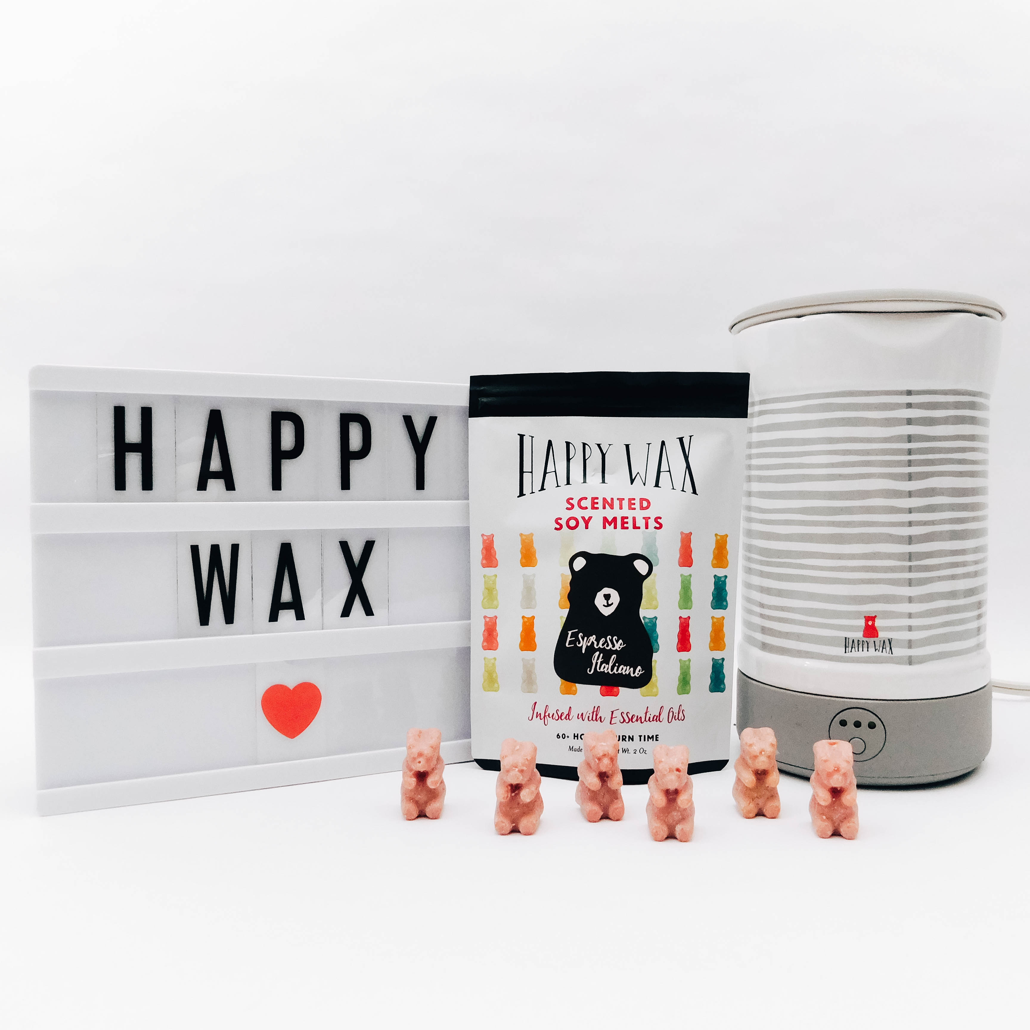 Happy Wax - Wax Warmer and Espresso Italiano Scented Soy Wax Melts stylishbrunette.com